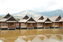 Traditional stilt house Stock Images