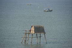 Traditional stilt house, Halong Bay, Vietnam Stock Photos