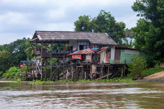 Traditional stilt houses Stock Images