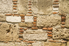 Traditional Stone and Brick Wall Background Texture Royalty Free Stock Images