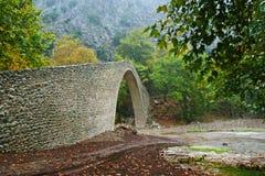 Traditional stone bridge in Greece.  Stock Photos