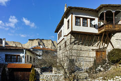 Traditional stone built house from the Revival period in Melnik town,  Bulgaria Stock Image