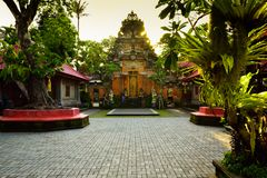 Raditional old sacred temple in Ubud Bali Indonesia stock photos