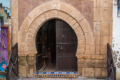 Traditional stone gate, Morocco Stock Image