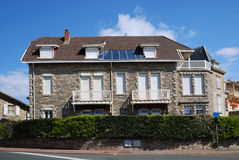 Traditional stone house of Biarritz Royalty Free Stock Photo