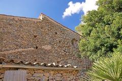 Traditional stone house detail Mallorca. Traditional stone house detail in Mallorca, Balearic islands, Spain Royalty Free Stock Photos