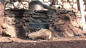 Traditional Stone Oven stock video footage