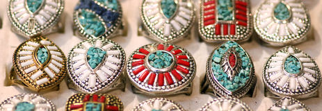 Traditional stone rings Stock Photo