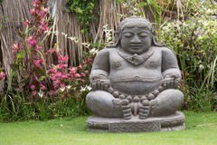 Traditional stone sculpture in garden in Bali, Ubud, Indonesia Royalty Free Stock Photography