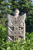 Traditional stone sculpture in garden in Bali, Ubud, Indonesia Stock Photography