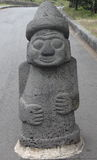 Traditional stone statue in Jeju island Royalty Free Stock Image