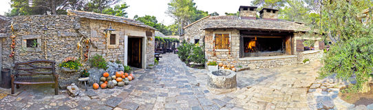 Traditional stone village in Dalmatia Royalty Free Stock Photos