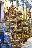 Traditional stores in Greece. Traditional stores in old city of Corfu island in Greece Royalty Free Stock Images