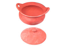 Traditional stoves and pots set made of red clay Royalty Free Stock Photo