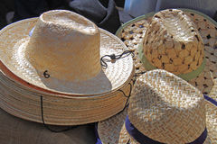 Straw Hats Stock Photo