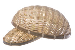 Traditional Straw Weaved Baskets Isolated Royalty Free Stock Photos