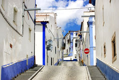 Traditional street of alentejo region Royalty Free Stock Images