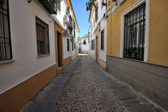 Traditional street architecture, Cordoba, Spain Stock Photo