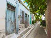 Traditional street in Cretan village Royalty Free Stock Photos