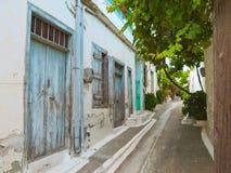 Traditional street in Cretan village Royalty Free Stock Photos