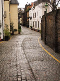 Traditional Street in Europe Royalty Free Stock Photography