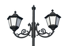 Traditional Street Lamp - Isolated Stock Photography