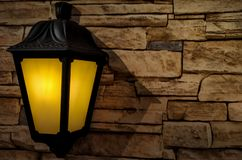 traditional street light placed on a stone tiles background royalty free stock photography