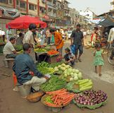 Traditional street market Stock Photography