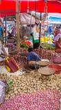 Traditional street market in Sri Lanka. GALLE, SRI LANKA - FEBRUARY 18: Traditional street market in Sri Lanka. Street market is the component of traditional Sri Stock Photography