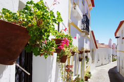 Traditional street of Moura village Royalty Free Stock Photography