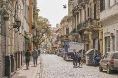 Traditional Street of San Telmo in Buenos Aires Stock Image
