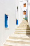 Traditional street in Tinos Island,Greece Royalty Free Stock Photo