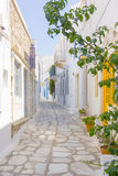 Traditional street in Tinos Island,Greece Stock Images