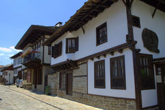 Traditional street in Tryavna town,Bulgaria Royalty Free Stock Image