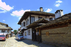 Traditional street in Tryavna town,Bulgaria Royalty Free Stock Images