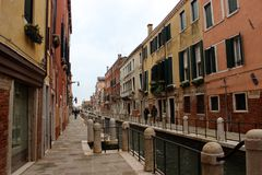 Streets and canals of Venice royalty free stock photo