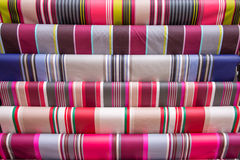 Traditional striped French Basque fabric Royalty Free Stock Image