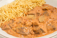 Traditional Stroganoff Beef Royalty Free Stock Images