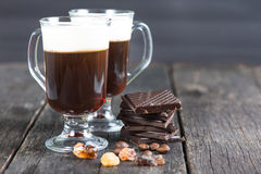 Traditional strong irish coffee Stock Photos