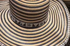 Traditional strwa hat in Colombia Royalty Free Stock Photo