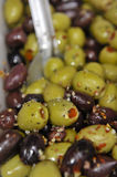 Traditional stuffed olives Royalty Free Stock Images
