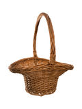 Traditional style basket with handle. Royalty Free Stock Photos
