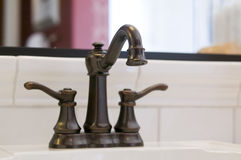 Traditional style bathroom designer faucet Stock Image
