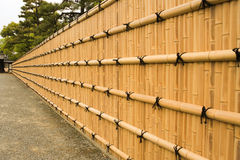 Traditional Brown bamboo wall stock images