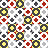 Traditional style ceramic tile patchwork design Stock Photography