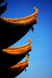 Traditional Style Eaves of China. Yellow Crane Tower, located on Snake Hill in Wuchang, is one of the Three Famous Towers South of Yangtze River (the other two royalty free stock photography