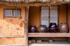 Traditional style hut in a park in Seoul Royalty Free Stock Photo