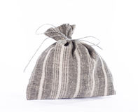 Traditional style linen gift bag. Stock Images