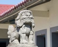 The traditional style of lion guardian Stock Image