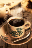 Traditional style Nanyang coffee in vintage mug Royalty Free Stock Photos